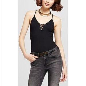 Black Strappy Bodysuit